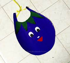 D I Y Brinjal Outfit For Kid Fancydress At School