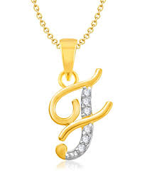 82 Off On Vk Jewels Alphabet Collection Initial Pendant Letter F