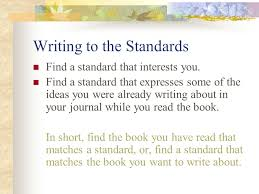 tutorial on how to write a response to literature essay ppt  writing to the standards