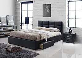 modern bedroom furniture with storage. Modren Storage Vermont 4 Drawer Storage Leather Bed Black 4FT6 Double 5FT King Size Modern  Bedside Table Bedroom On Furniture With E