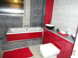 ... Impressive Decoration Red And Grey Bathroom Brick ...