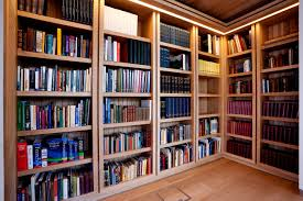 home library lighting. Elegant Modern Wood Library With Wooden Floor And Warm Lamp On The Ceiling It Also Has Home Lighting