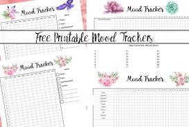 Free Printable Mood Tracker 4 Mood Tracker Charts