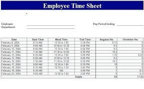 Time Sheet Excel Template Employee Time Sheet Template Daily