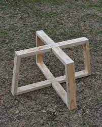 easy diy cross base table tutorial