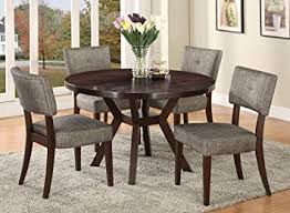 table 4 chairs set. acme furniture top dining table set espresso finish drake collection 4 chairs
