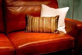 how to clean fake leather couches red