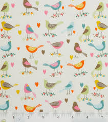 21 best Fabric images on Pinterest | Fabric crafts, Fabric sewing ... & Novelty Quilt Fabric- Off White Birds Looking Around - Joanns Adamdwight.com