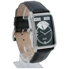 d g seaquest black dial leather mens designer watch dw0122