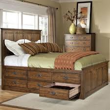 Mission Oak Bedroom Furniture Intercon Oak Park Mission Queen Bed With 9 Underbed Storage