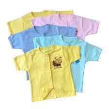 Combo 5 áo sơ sinh cotton tay dài & 5 áo sơ sinh cotton tay ngắn