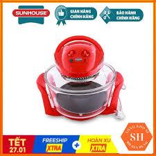 Lò nướng thuỷ tinh sunhouse sh410 12l (đỏ) - hàng chính hãng bảo hành 12  tháng - Sắp xếp theo liên quan sản phẩm