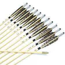 targeted selection promotion shop for promotional targeted 12pcs handmade traditional selected 31 wooden arrows 5 pattern turkey feathers silver nock for archery hunting targeting