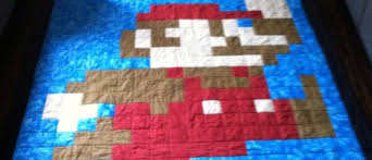 Super Easy Quilt Patterns Free Magnificent Super Mario Brother Quilt Pattern FREE Of Course