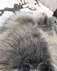 grey faux fur rug rugs ideas