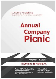 Picnic Template Company Picnic Invitation Flyer Template