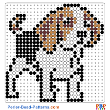 Perler Bead Patterns Delectable Dog Perler Bead Pattern And Designs Bead Sprites Printable PDF