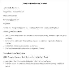 Media Resume Samples Media Resume Samples Sample Book Reviewer ...