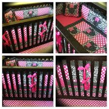 minnie mouse baby bed set bir dell custom mouse crib bedding