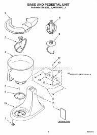 kitchenaid 4ksm150psbw0 parts list and diagram ereplacementparts com Kitchenaid Mixer Wiring Diagram click to close kitchenaid stand mixer wiring diagram