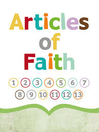 Update 3x4 Articles Of Faith Cards 13 Articles Of Faith
