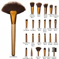 allin exporters 24 pieces professional makeup brush set with travel and carry case travel makeup brush fan foundation brush powder brush face brush blush
