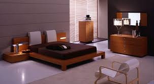 modern wooden furniture. Modern Wood Furniture Bedroom With Dark Brown Bed And Ivory Headback: Full Size Wooden