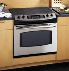 a slidein is a complete stove with drawer below the oven it sits on floor and slides into space for it between counter tops either side slide in94