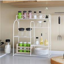 Kitchen Organizing Furinno Yijin White Metal Kitchen Organizing Rack Fnbq 22133 The