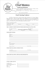 Catering Contract Samples Food Catering Contract Templates At Allbusinesstemplates Com