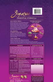 Zignature Feeding Chart Zignature Zssential Multi Protein Formula Grain Free Dry Dog Food 13 5 Lb Bag