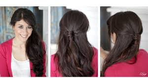 Luxy Hair Style wrapped halfup halfdown hairstyle youtube 4026 by wearticles.com