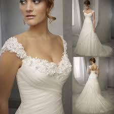 Neu Wei Elfenbein Organza Herzenform Brautkleider Hochzeitskleid