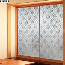 decoration decorative window privacy frosted flower sliding glass door static opaque stickers