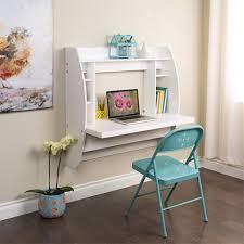 prepac floating desk with storage white