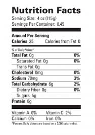 lc margarita nutritionallabel