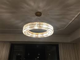 fumat modern nordic round crystal chandelier ceiling light re k9 led round crystal hanging ring lamp