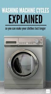 washing machine cycles explained take