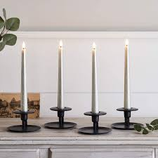 Lights4fun, Inc. Set of 4 TruGlow Champagne Distressed Wax Flameless LED  Battery Operated Taper Candles with Remote Control: Amazon.ca: Electronics