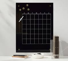 black glass monthly planner dry erase