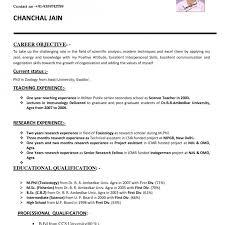 Resume Format For Teachers Job How To Make Cv For Teaching Job