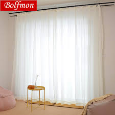 Thicken Pure Color Super Soft Elegant White Tulle Sheer Curtains for ...