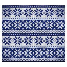 Nordic Pattern Extraordinary Blue Nordic Fabric Pattern Vector Free Download