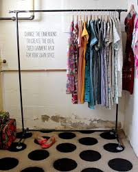 View in gallery Black steel pipe garment rack