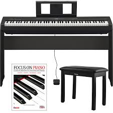 yamaha 88 key digital piano. amazon.com: yamaha p45 88 weighted keys digital piano w/ l85 furniture stand ,knox bench and focus music book/cd: computers \u0026 accessories key e