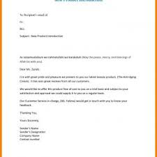 Introductory Letter Letter For New Product Introduction Save Introductory Letter