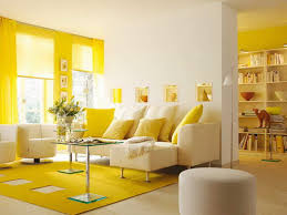 Yellow Living Room Decor Living Room White Shelves Gray Sofa Brown Chairs Gray Recliners