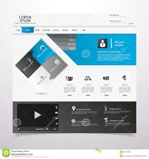 Website Design Templates Web Design Elements Templates For Website Stock Vector 24