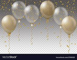 Celebration Background Template With Balloons