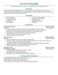 Licensed Massage Therapist Resume Examples Best Of Resume Massage Therapy Resume Samples